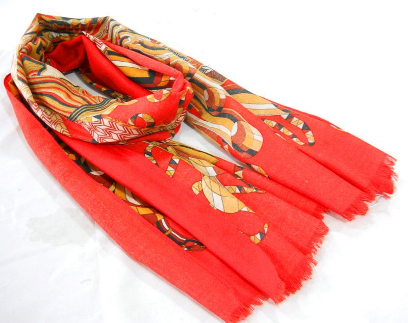 red scarf made in scarf factory