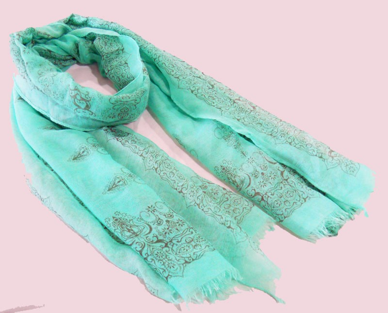 sky blue scarf made in scarf factory