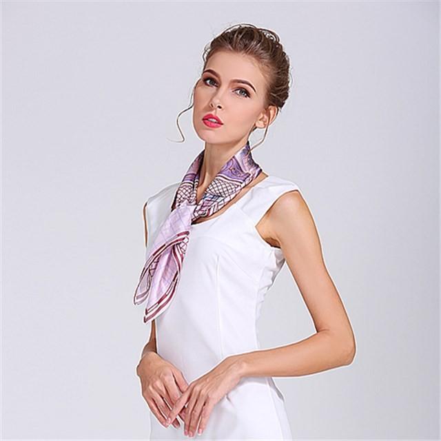 Bandanna factory custom sublimation printed polyester silk scarf