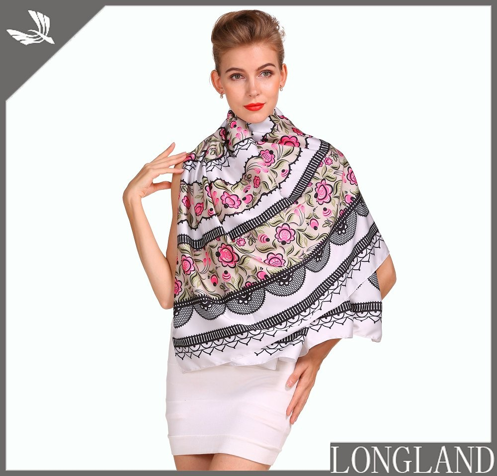 Chiffon ladies shawls in china scarf factory