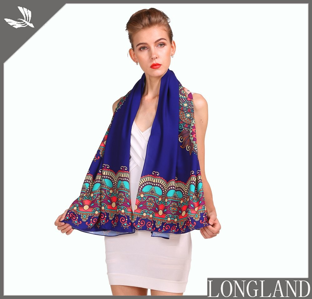 China scarf factory custom chiffon ponchos