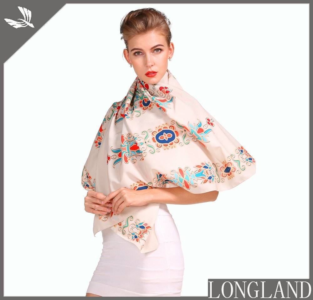 china scarf factory custom chiffon shawls