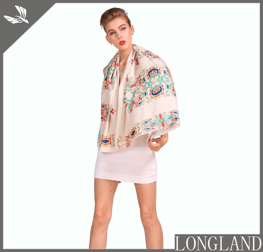 China scarf factory custom chiffon shawls