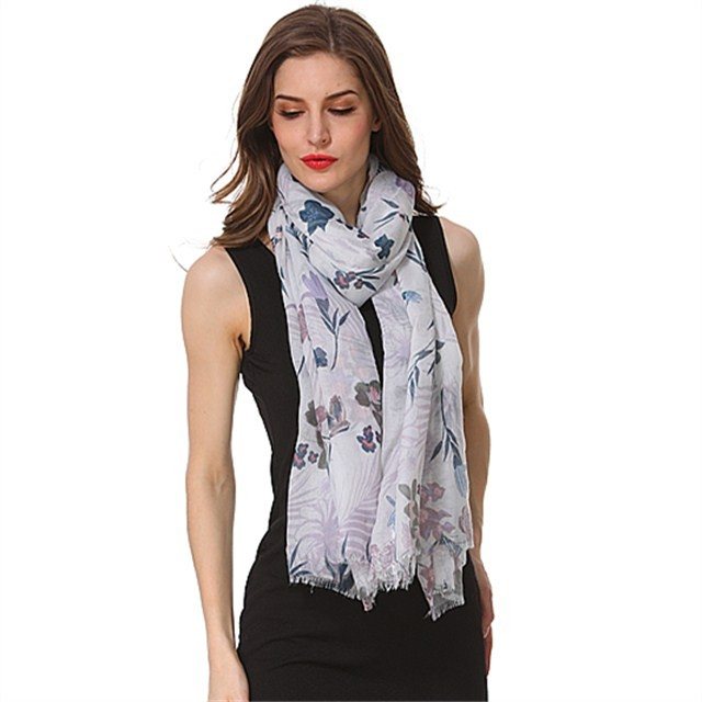 China scarf factory custom printed polyester scarf