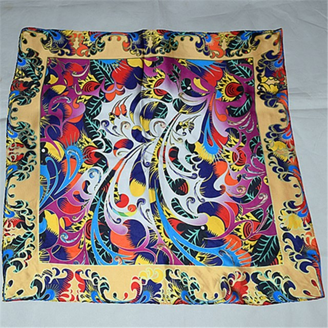 China scarf supplier digital photo printed new silk bandanna