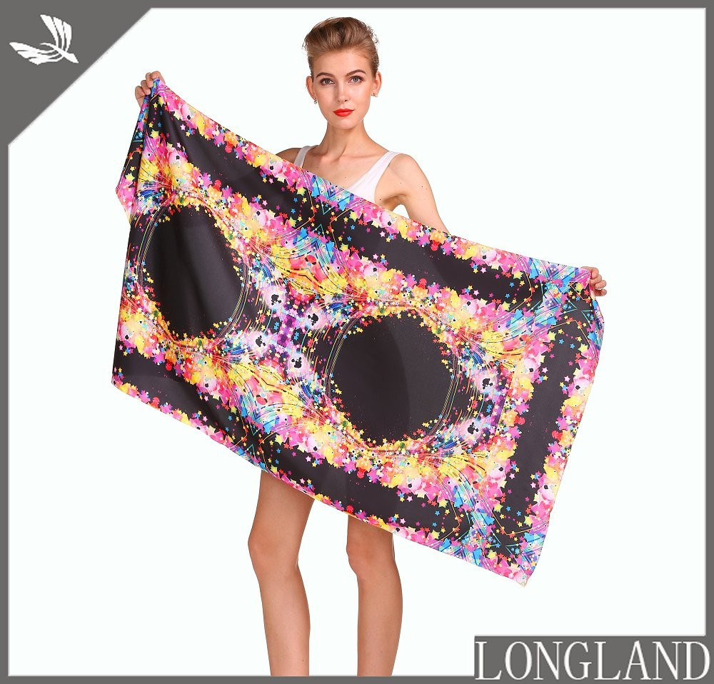 Custom chiffon poncho in china scarf factory