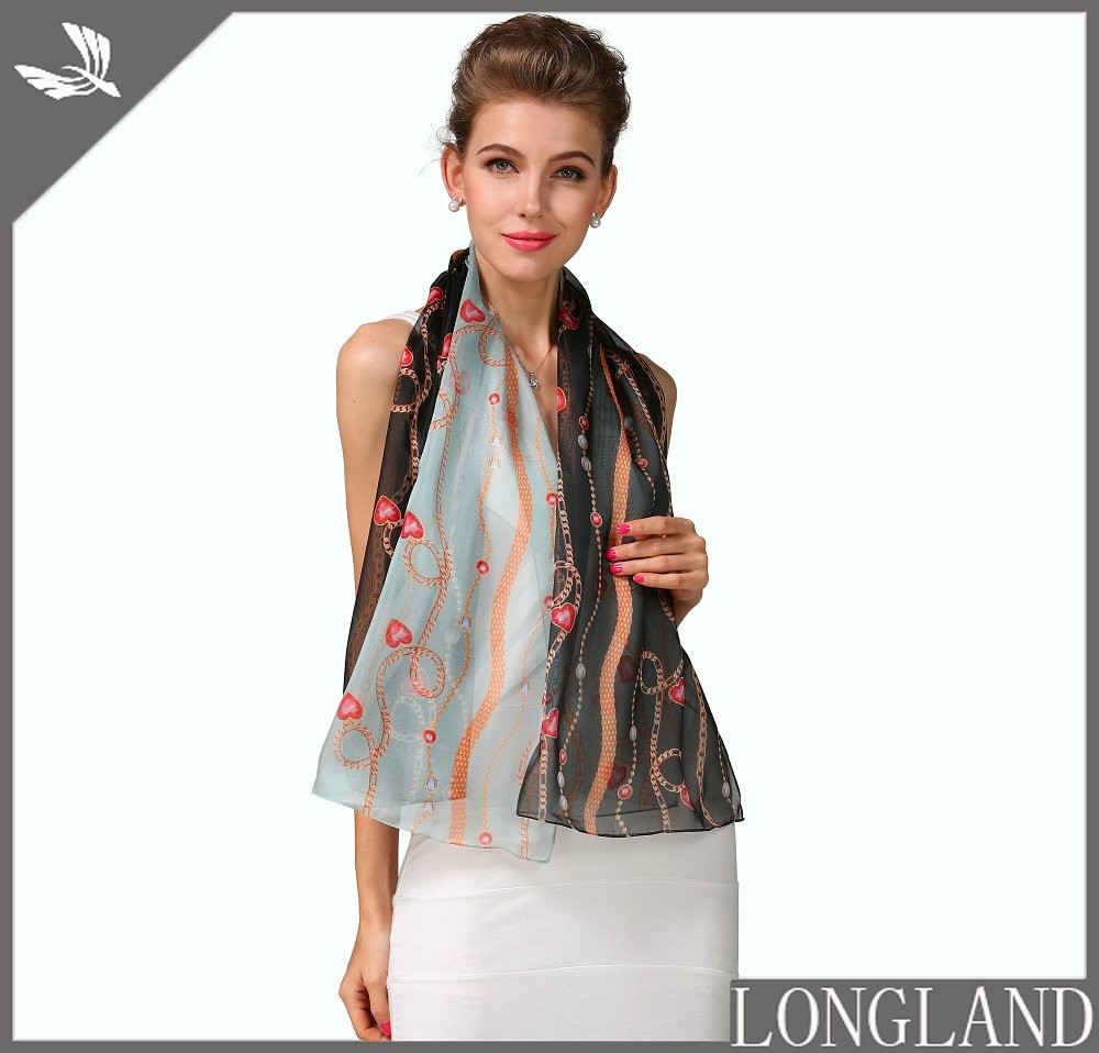 Custom photo digital printed poly chiffon stoles