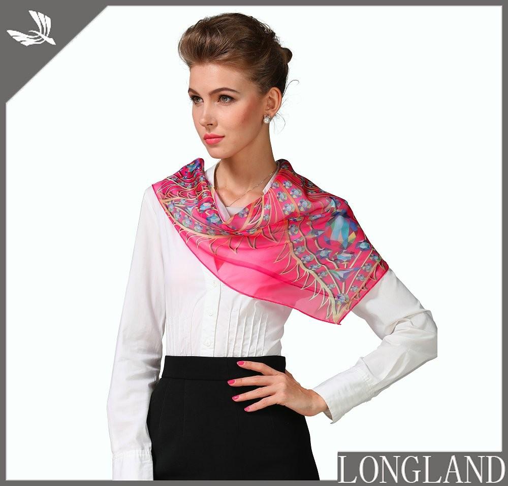 Custom photo printed chiffon handkerchief