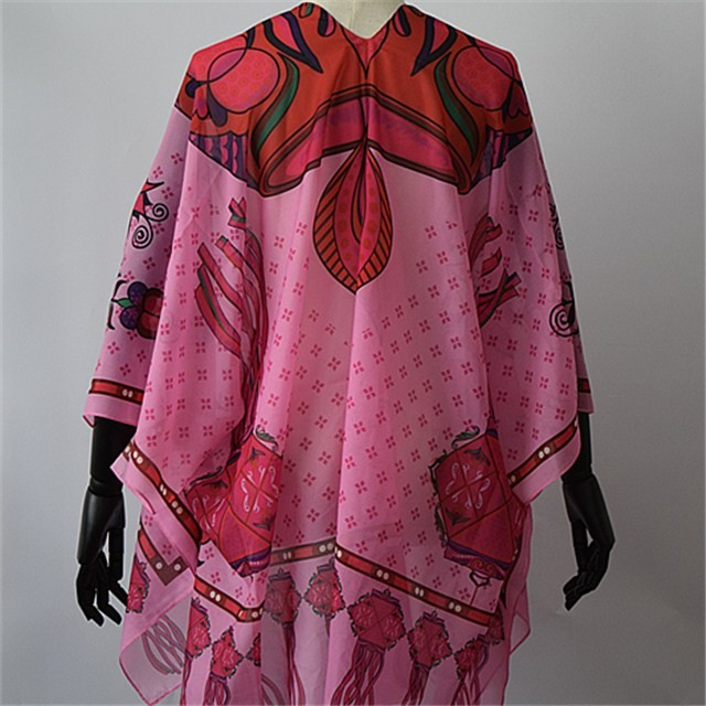 Custom printed shawl in china scarf factory