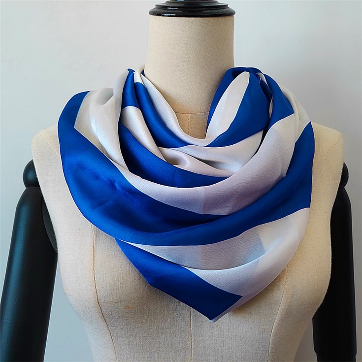 Custom printed silk scarves no minimum in digital printed scarf factory