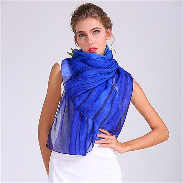 Digital printed polyester shawl in our scarf factory