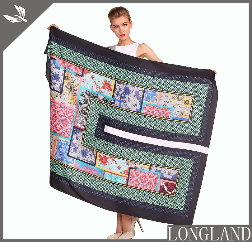 Digital printed ponchos in china scarf factory