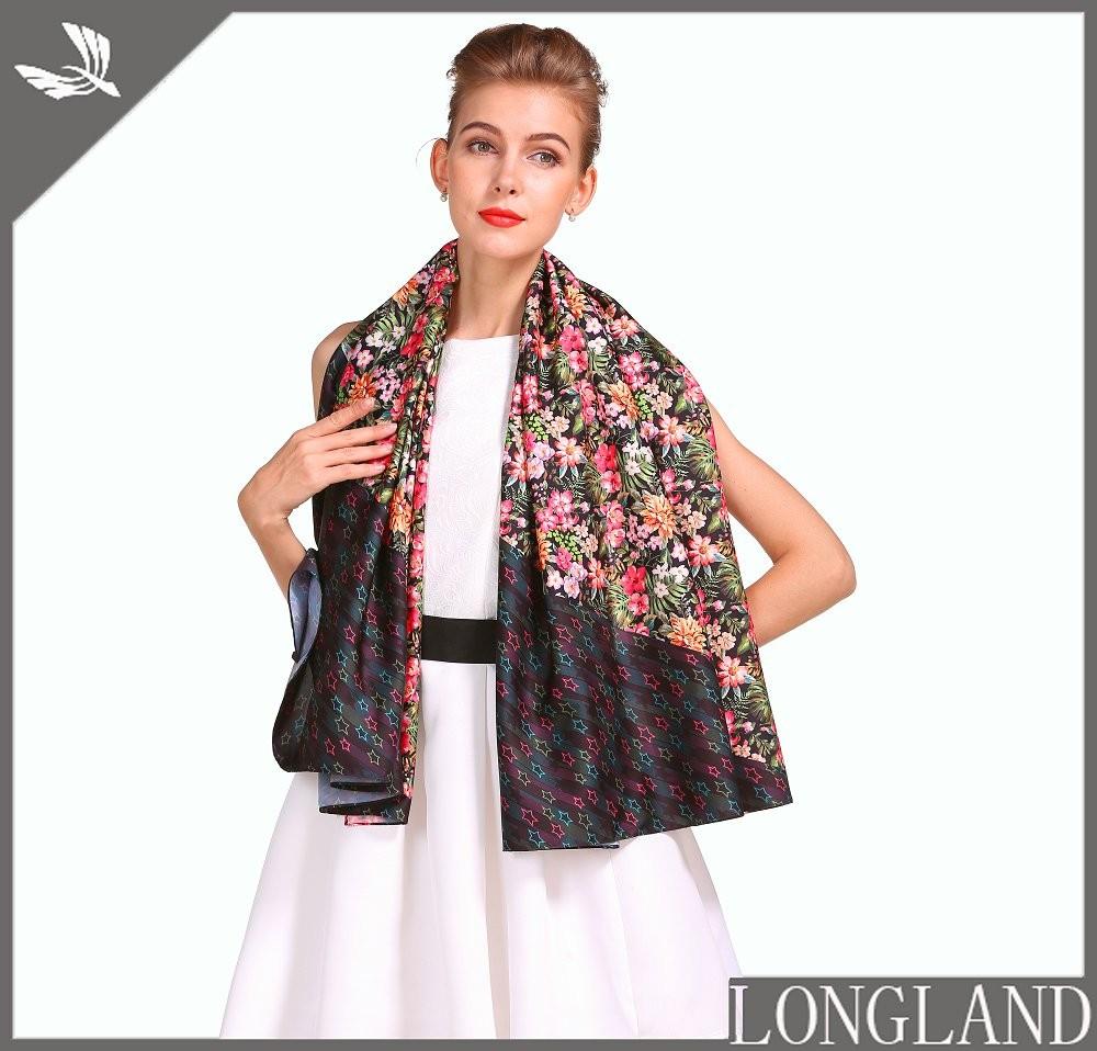 Digital scarf factory printed chiffon shawls