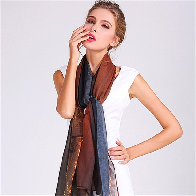 Digital scarf factory sublimation printed poly scarf