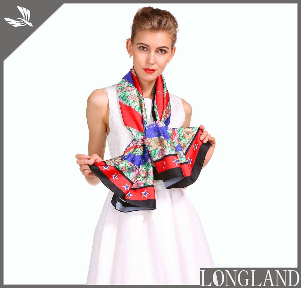 Handkerchief factory custom photo printed scarf