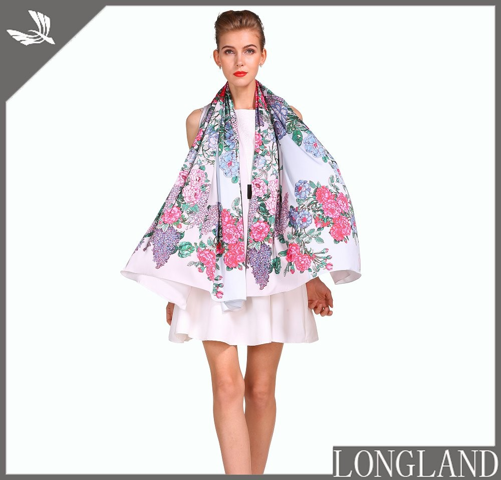 Handkerchief factory custom printed chiffon scarf