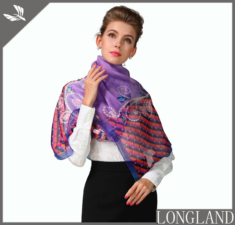Pink shawls for women, china bandanna factory