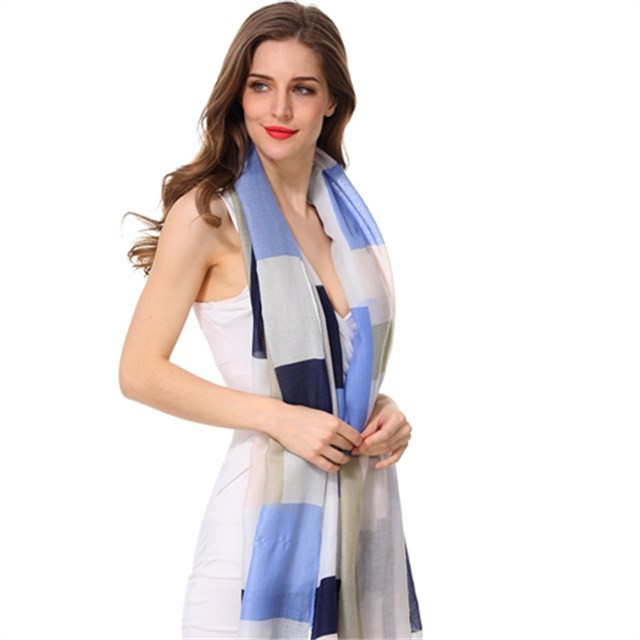 Scarf factory colorful checks ladies scarves