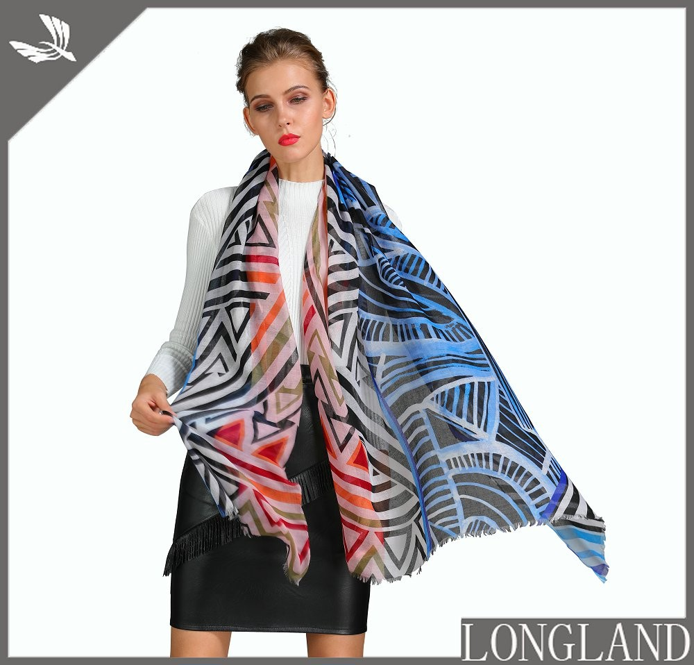 Scarf factory custom printed polyester scarf