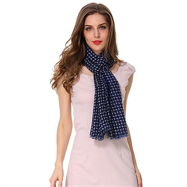 Scarf factory customized checks polyester scarf
