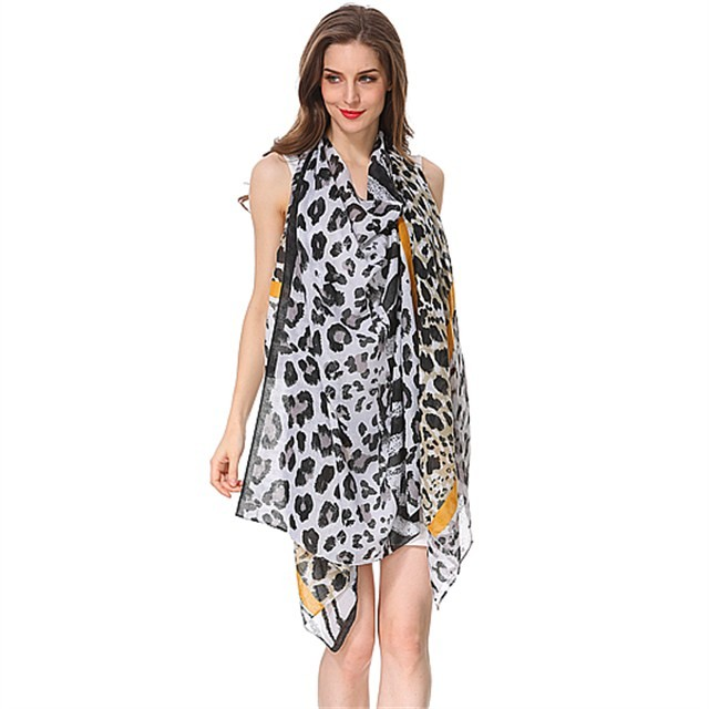 Scarf factory leopard printed scarves for women