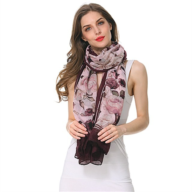 Scarf factory lightweight spring blossom scarves
