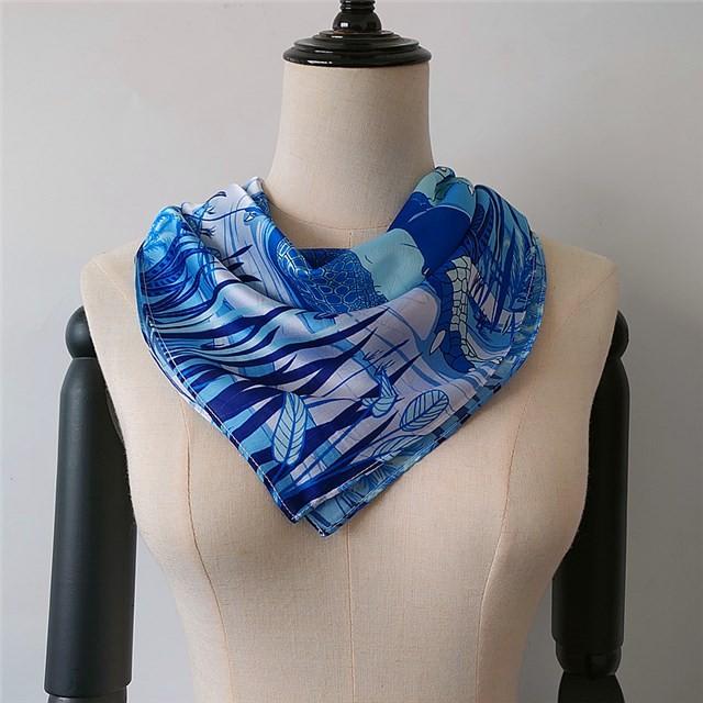 Scarf factory sublimation custom designs printed new silk bandanna scarf