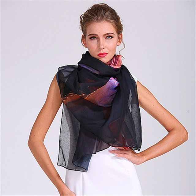 Scarf factory sublimation ladies polyester scarf