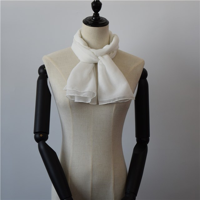 Scarf factory white polyester scarf for dying