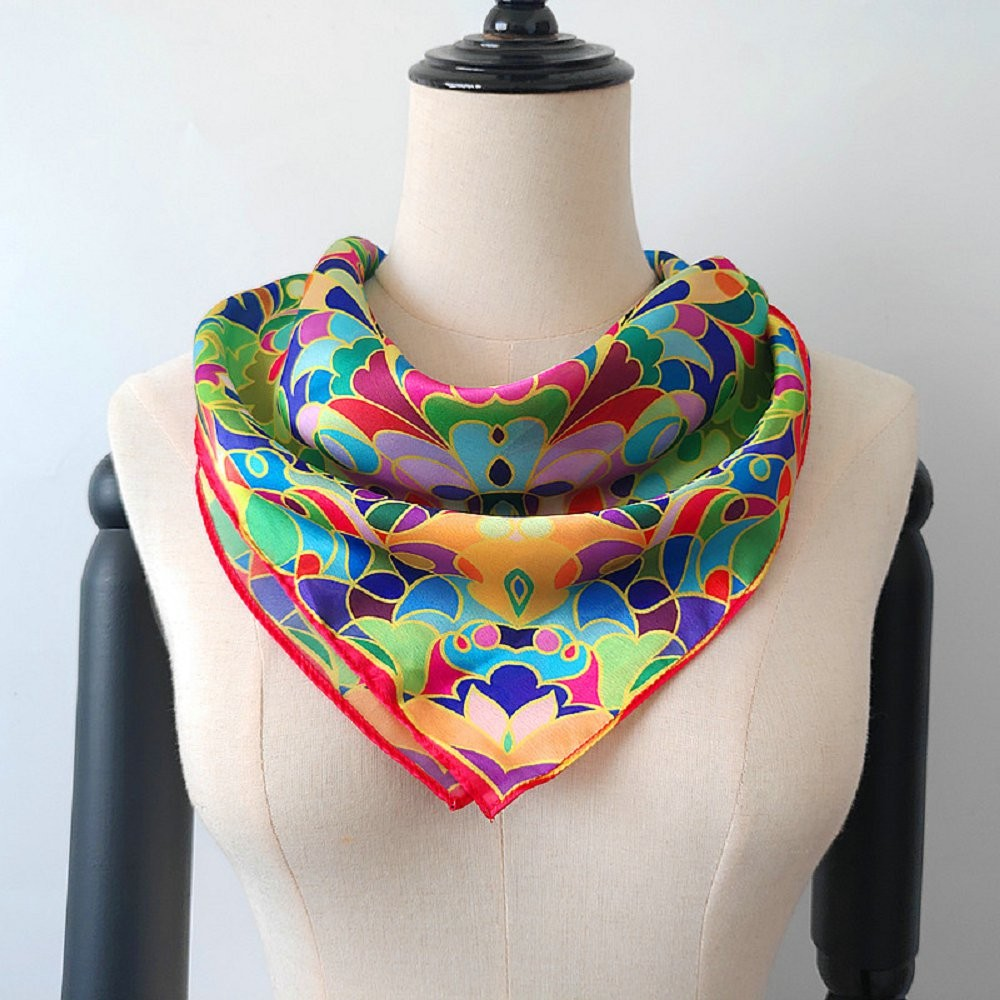 Scarf supplier china digital printed new silk bandanna scarf