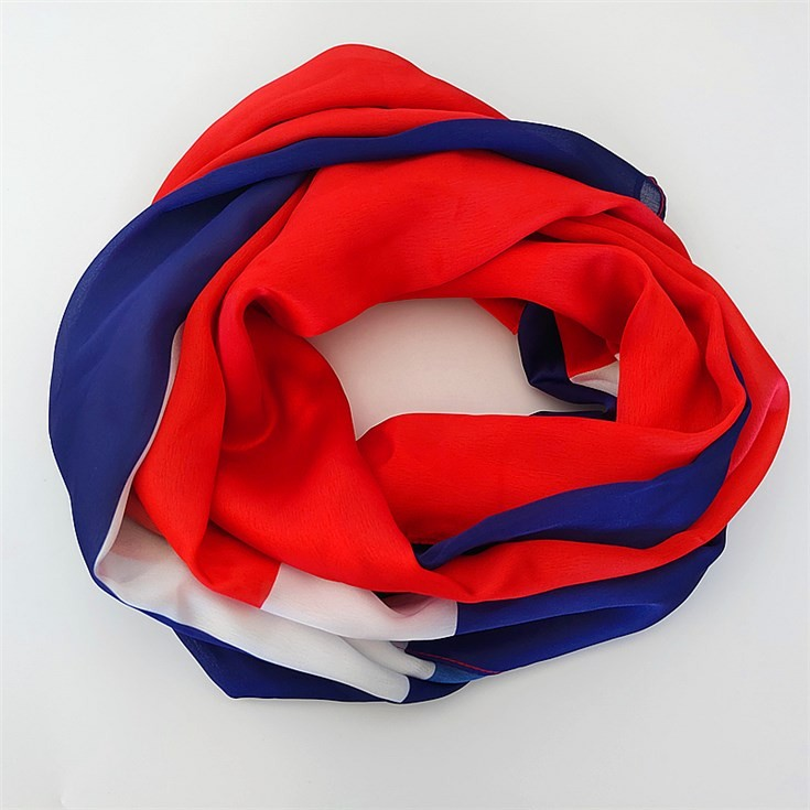 Silk scarf manufacturers printing flag photographic images on scarves