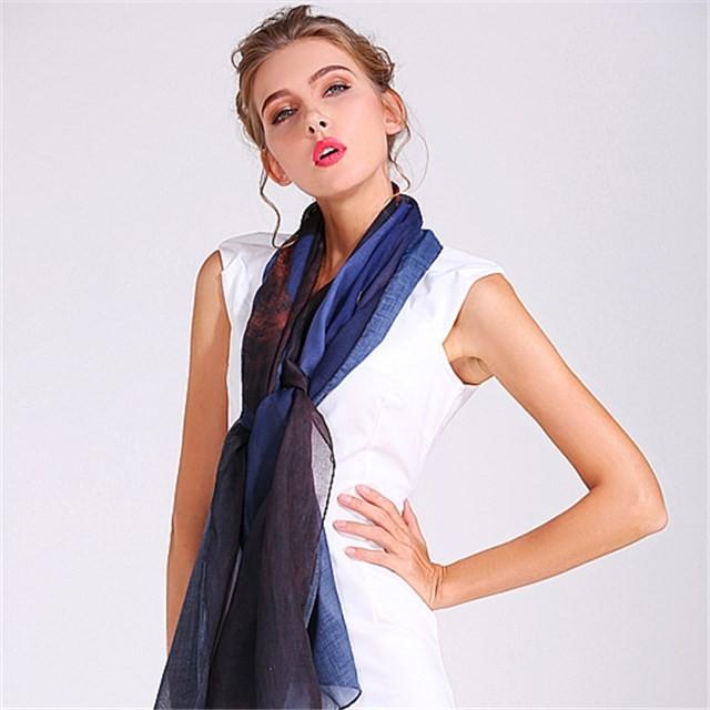Small order custom digital printed polyester scarf