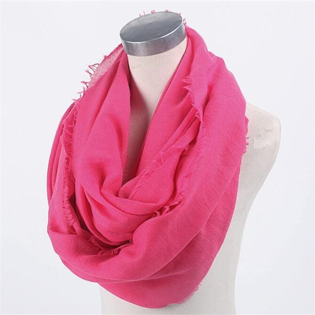 Solid colors infinity scarves in china scarf factory