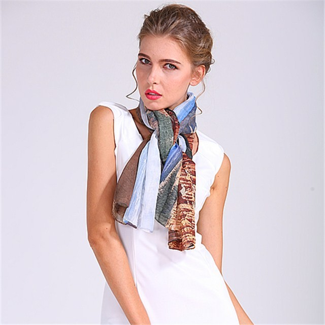 Sublimation polyester scarf in our factory