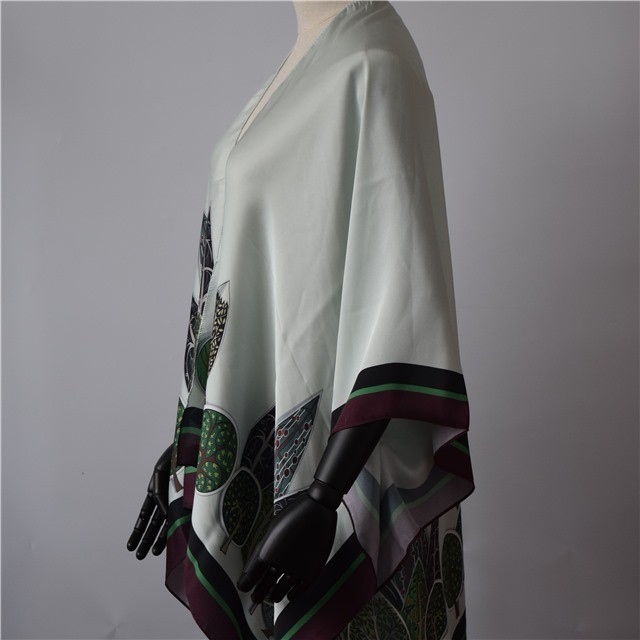 China scarf factory custom printed satin shawl