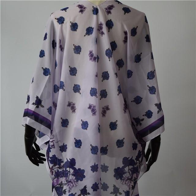 Custom digital printed chiffon shawls and scarves