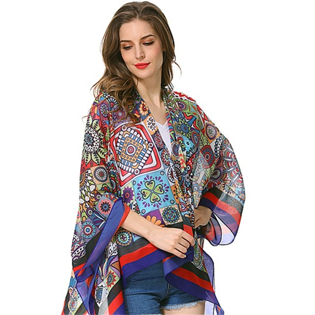 Scarf factory digital printed chiffon shawl