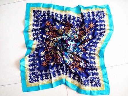 Floral print silk scarf, your own custom scarf