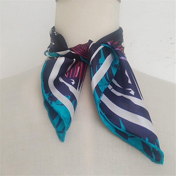 Custom design digital print silk scarf wholesale