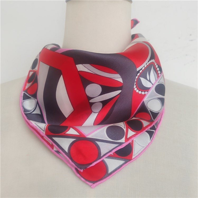 Custom logo made design silk scarf wholesale