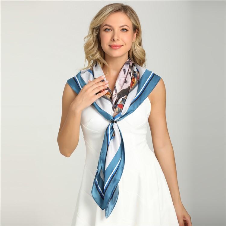 Custom designs made silk scarf gift bulk