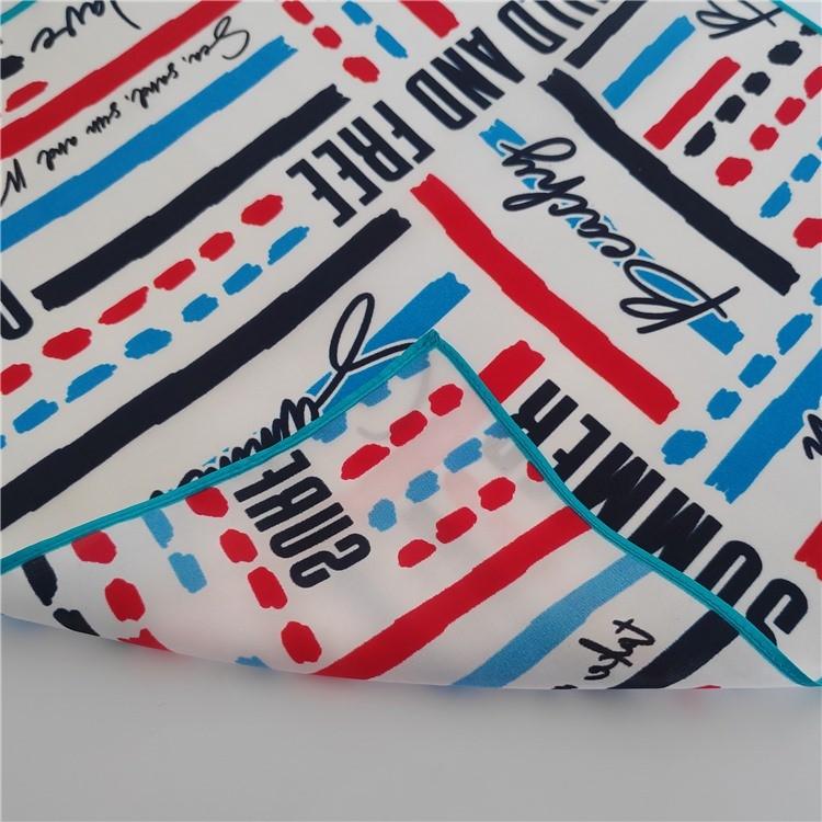 Custom silk hair scarves printing with logo gift