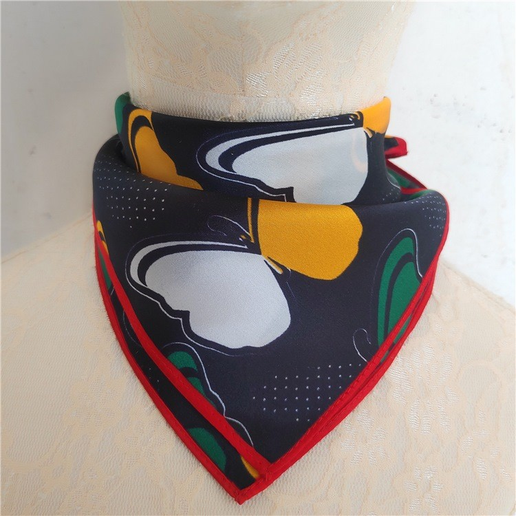 Custom silk head scarf manufacturer printing with logo