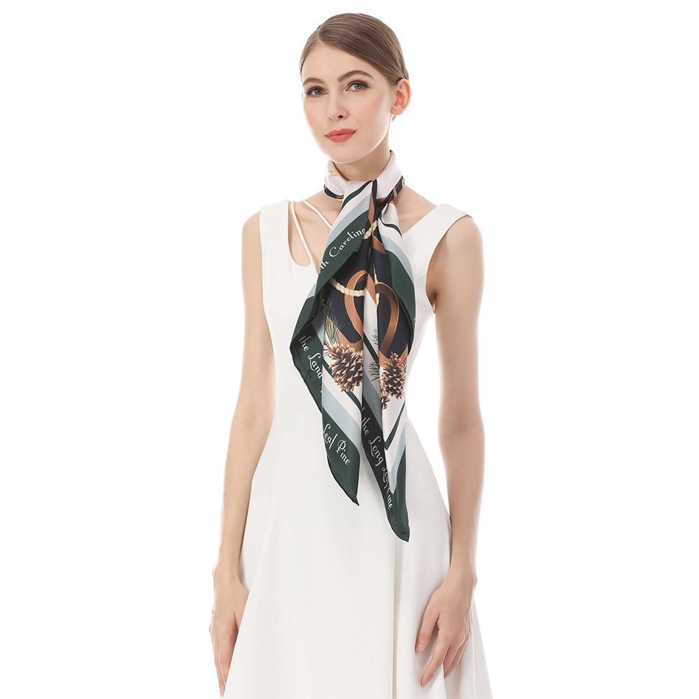 Scarf factory custom design silk head neck scarf printing wholesale