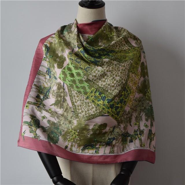 Bandana factory custom square silk bandana scarf