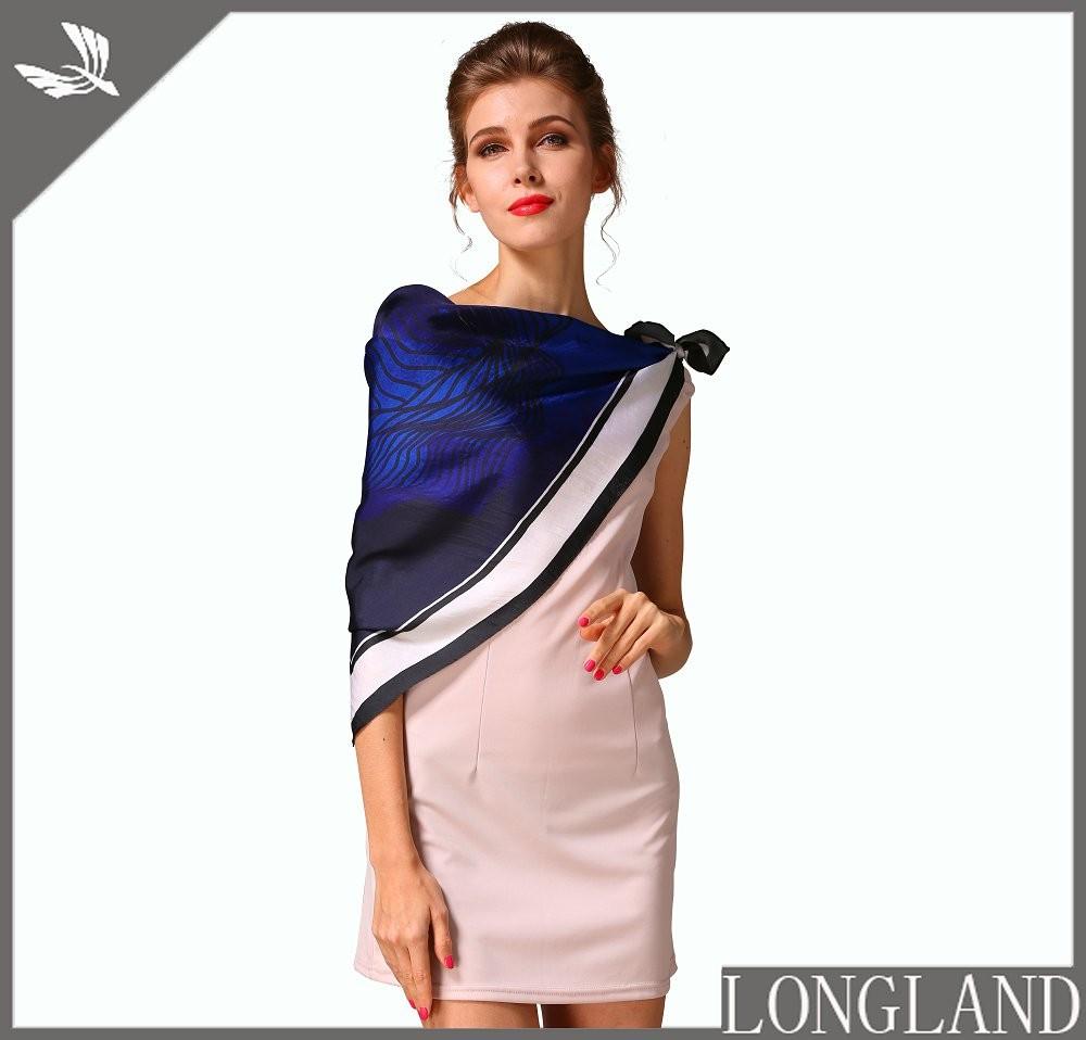 Bandannas factory digial printed silk scarves