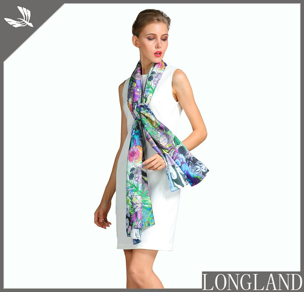 China silk scarf factory custom printed scarves