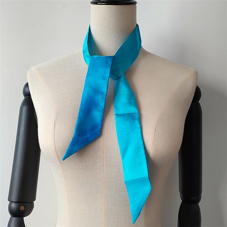 Custom printed silk scarves no minimum from china scarf factory