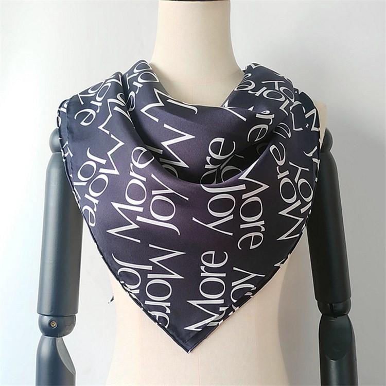 Scarf manufacturer digital printed custom silk scarves printing wholesale