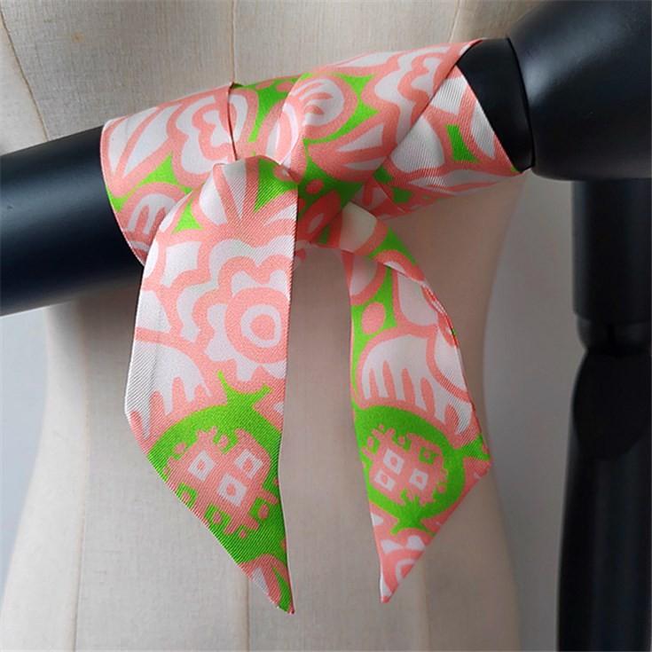 Scarf printer custom digital printed silk twill 14 mm hair scarves
